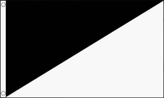Racevlag zwart/wit diagonaal 60x90cm Best Value