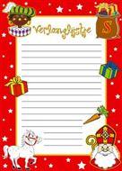 Verlanglijstje Sinterklaas 6 vel