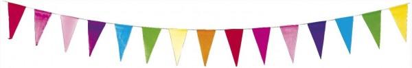 Papieren vlaggenlijn Vrolijke kleuren 10m