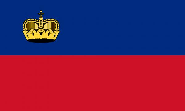 Vlag Liechtenstein 100x150cm Glanspoly