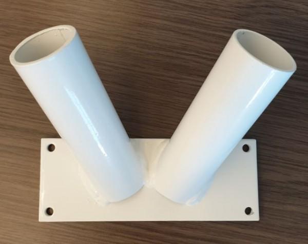 Vlaggenstandaard Duo Wit 30mm -1