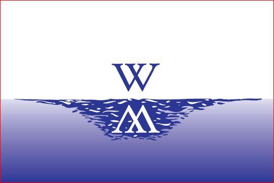 Vlag gemeente Waterland 30x45cm bootvlag
