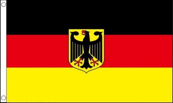 vlag Duitsland met wapen, Duitse vlag met wapen 90x150 Best Value