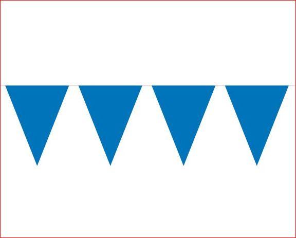 Vlaggenlijn blauw effen blauwe vlaggenlijnen