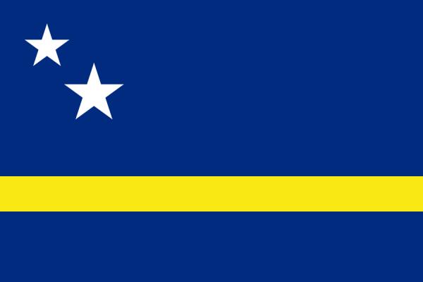 vlag Curacao 20x30cm   Curacaose vlaggen kopen gastenvlag
