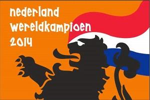 Kampioensvlag Nederland Wereldkampioen 2014 WK voetbal