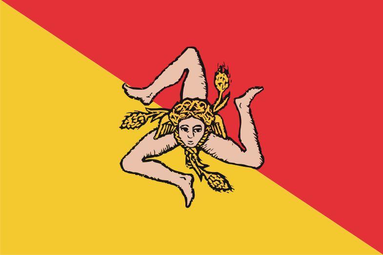 Siciliaanse vlag Sicilië 30x45cm gastenvlag