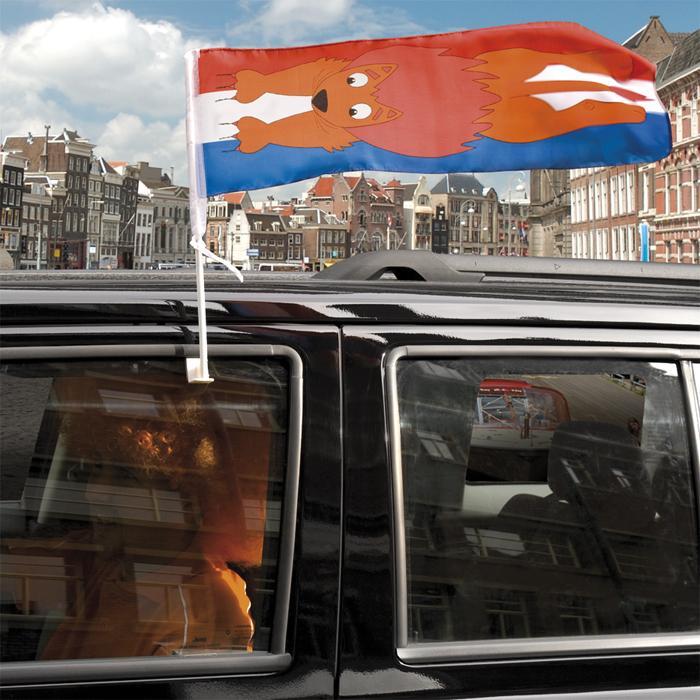 Autovlag Leeuw EK | WK de mooiste autoversiering