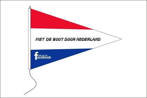 Met de boot door Nederland 30x45cm puntvlag Facebookgroep