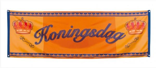 Koningsdag oranje spandoek banner