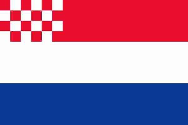 Nederlandse vlag met inzet Noord-Brabantse vlag 100x150cm