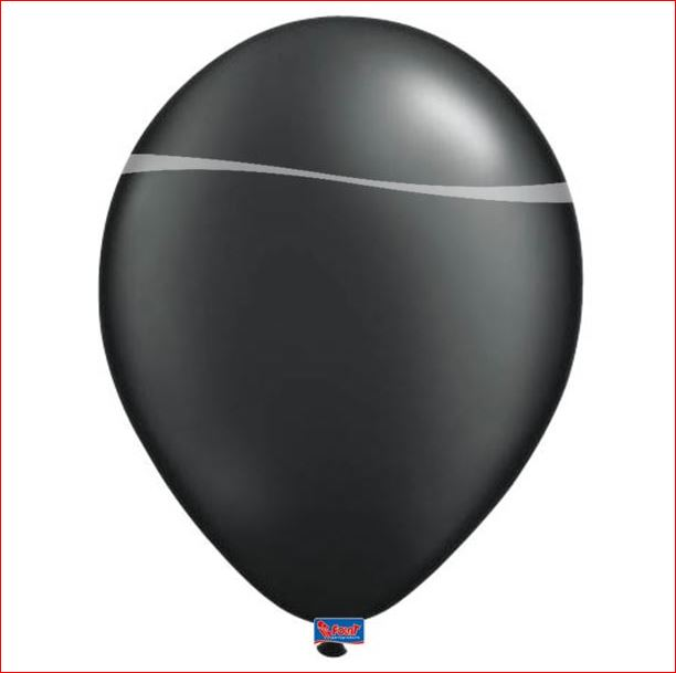 Zwarte ballonnen 10 stuks