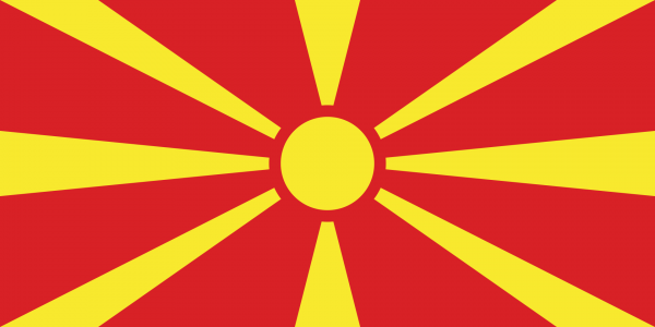 Vlag Macedonie 100x150cm Glanspoly