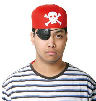 Piratenhoed rood Piratencap