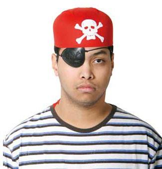 Piratenhoed rood Piratencap