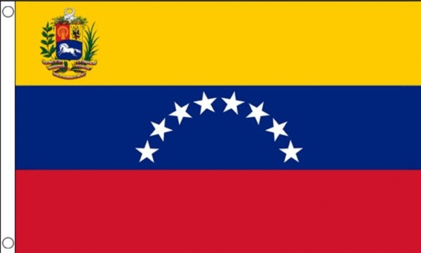Vlag Venezuela I Venezulaanse Vlaggen met Wapen 90x150cm Best Value