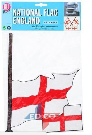 Vlag sticker Engeland, 4 stuks
