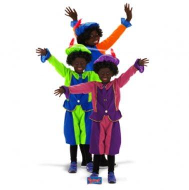 Zwarte Piet- Roetveeg Pietenpak kleding voor kinderen van 6 tot 8 jaar