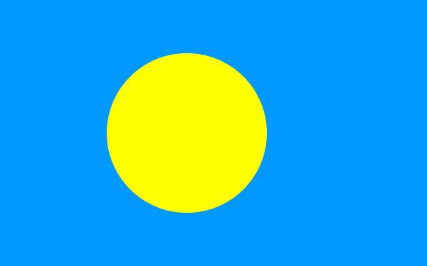Tafelvlag Palau met standaard
