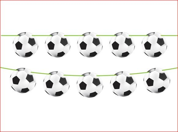 Vlaggenlijn voetbal 10m1 WK EK voetbalfeestje
