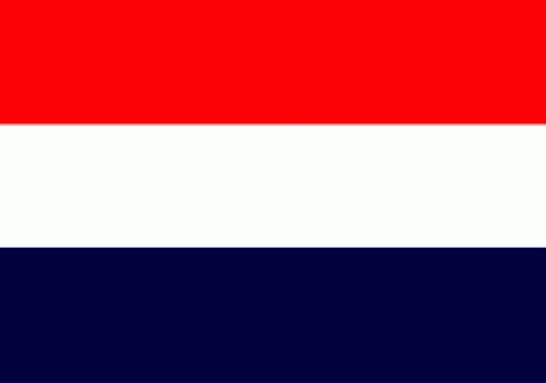 Oud Hollandse vlag / Sloepenvlag 120x180cm speciaal voor aan een vlaggenstok met koord en lusje
