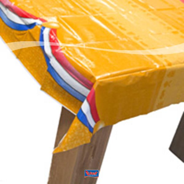 Oranje plastic tafelkleed voordelig kopen bij Vlaggenclub