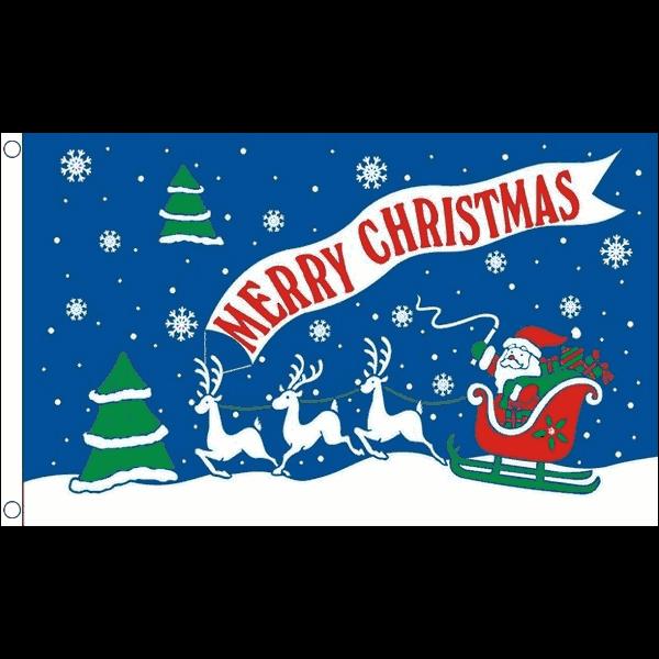 Kerstvlag Merry Christmas 90x150cm