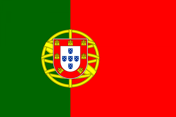 Vlag Portugal 100x150cm Glanspoly