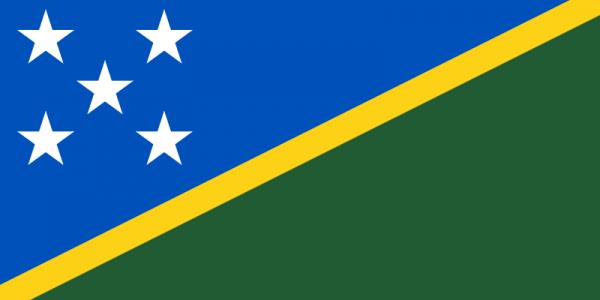 tafelvlaggen Salomonseilanden 10x15cm   Salomonseilanden tafelvlag