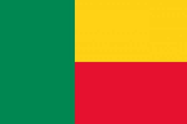 Vlag Benin 100x150cm Glanspoly