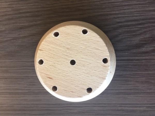 Houten tafelstandaard XL voor 7 tafelvlaggetjes 10x15cm