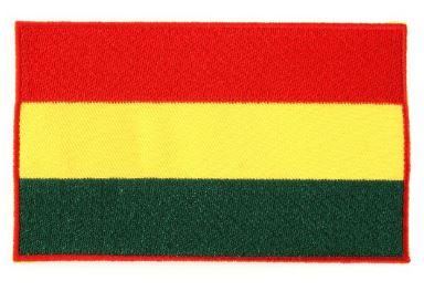 Applicatie vlag carnaval Limburg rood/geel/groen 7x12cm