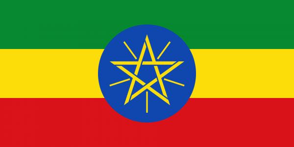 Tafelvlag Ethiopie met standaard