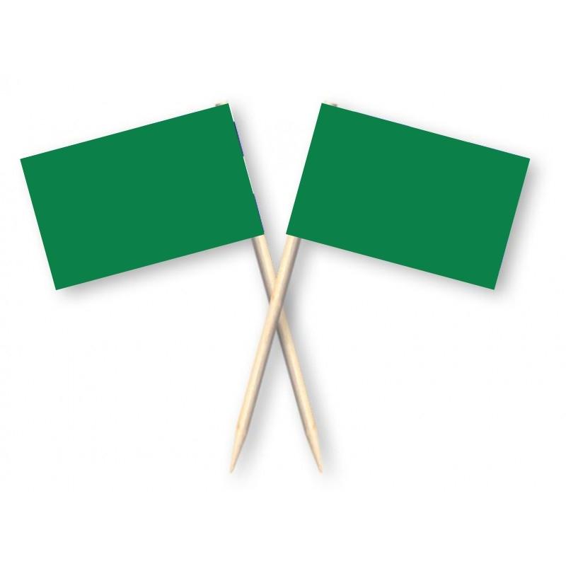 Cocktailprikkers groen, 50 stuks