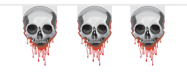 vlaggenlijn 8 meter skulls blood horror halloween