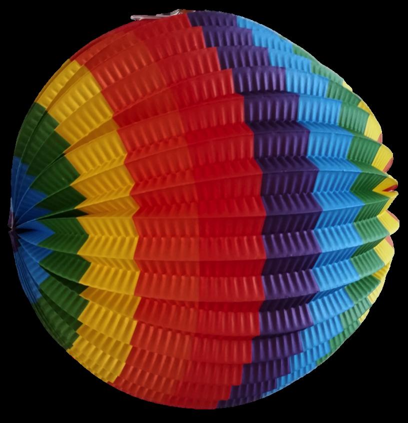 Lampion regenboog 22 cm