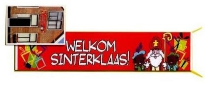 Sinterklaas welkom Spandoek