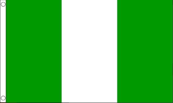 vlag Nigeria, Nigeriaanse vlaggen 90x150cm Best Value