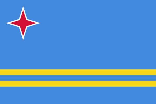 Tafelvlaggen Aruba 10x15cm | Arubaanse tafelvlag