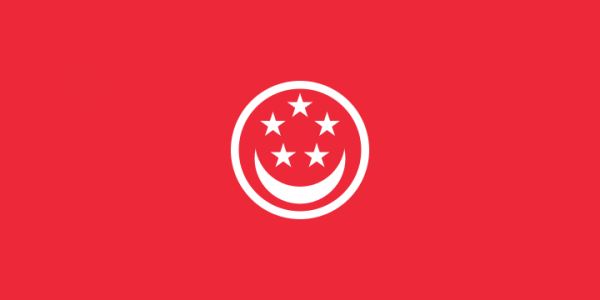 Singaporese koopvaardij vlaggen | vlag Singapore koopvaardij 150x225cm mastvlag