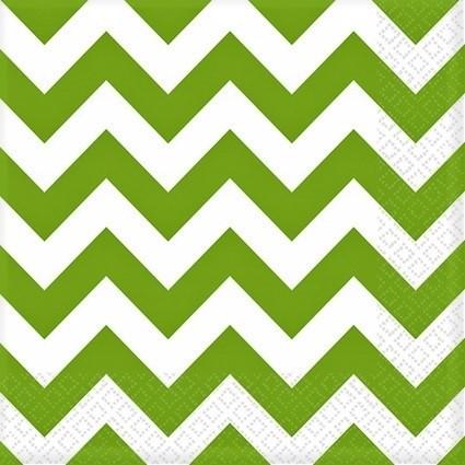 20 servetten zigzag groen westland