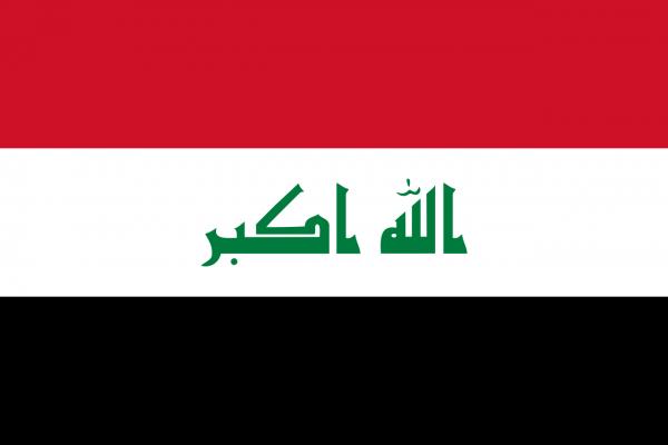 Tafelvlag Irak met standaard