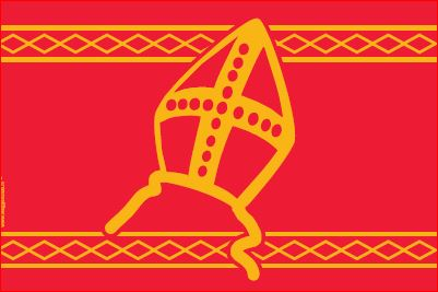 Officiele Sinterklaasvlag 70x100cm sinterklaas vlag