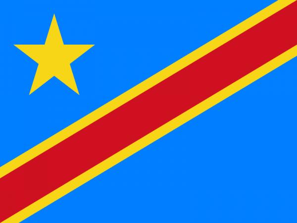 Tafelvlaggen Democratische Republiek Congo 10x15 cm   Congolese tafelvlag