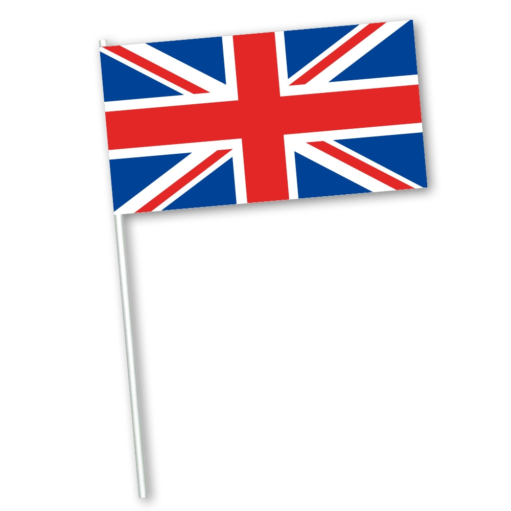 Zwaaivlag 30x45cm Engeland, Groot Brittannië, Verenigd Koninkrijk