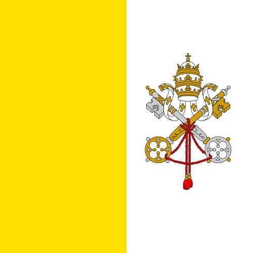 Tafelvlaggen Vaticaanstad 10x15cm | Vaticaanse tafelvlag
