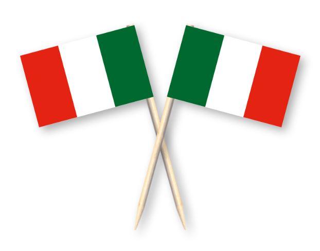 Cocktailprikkers met Italiaanse vlag, Italië Kaasprikkers, 50 stuks
