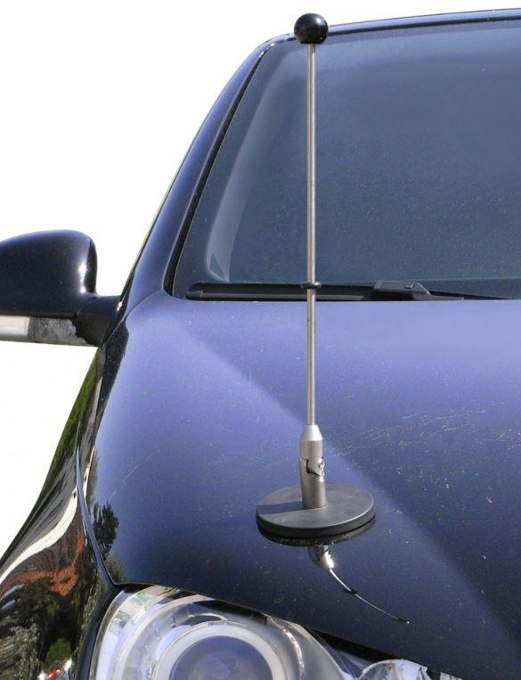 autostandaard met zwart knop