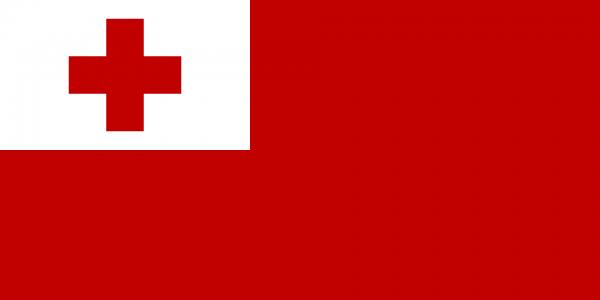 Vlag Tonga 100x150cm Glanspoly
