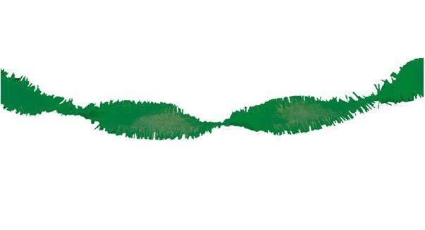 Draaiguirlande, crêpeslinger groen 6m, brandvertragend